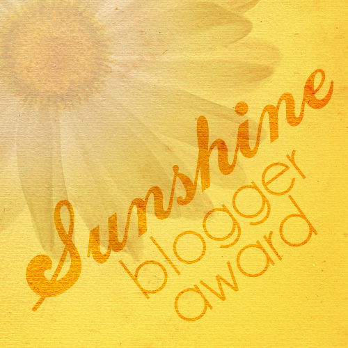 I Got Nominated for the Sunshine Blogger Award!